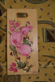 Роспись деревянной кухонной доски