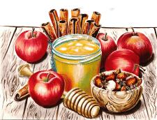 Иллюстрация «Яблочный Спас»