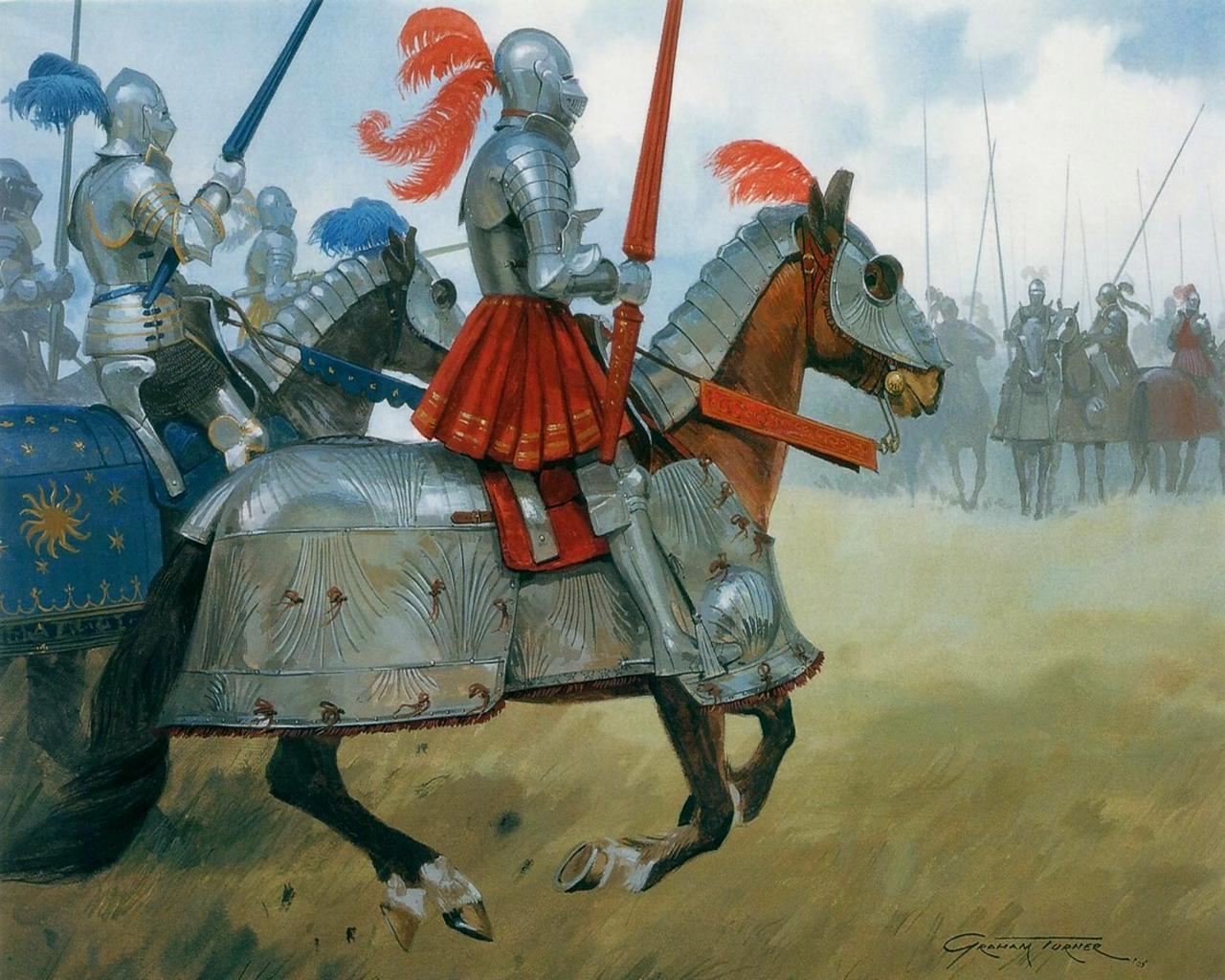 Фотография Knights Рыцарь в доспехах на коне в доспехах Живопись
