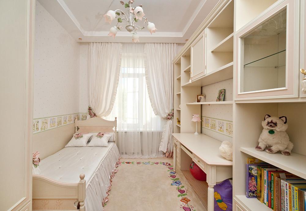 """Красочный интерьер детской комнаты для девочки. """" - карточка."""