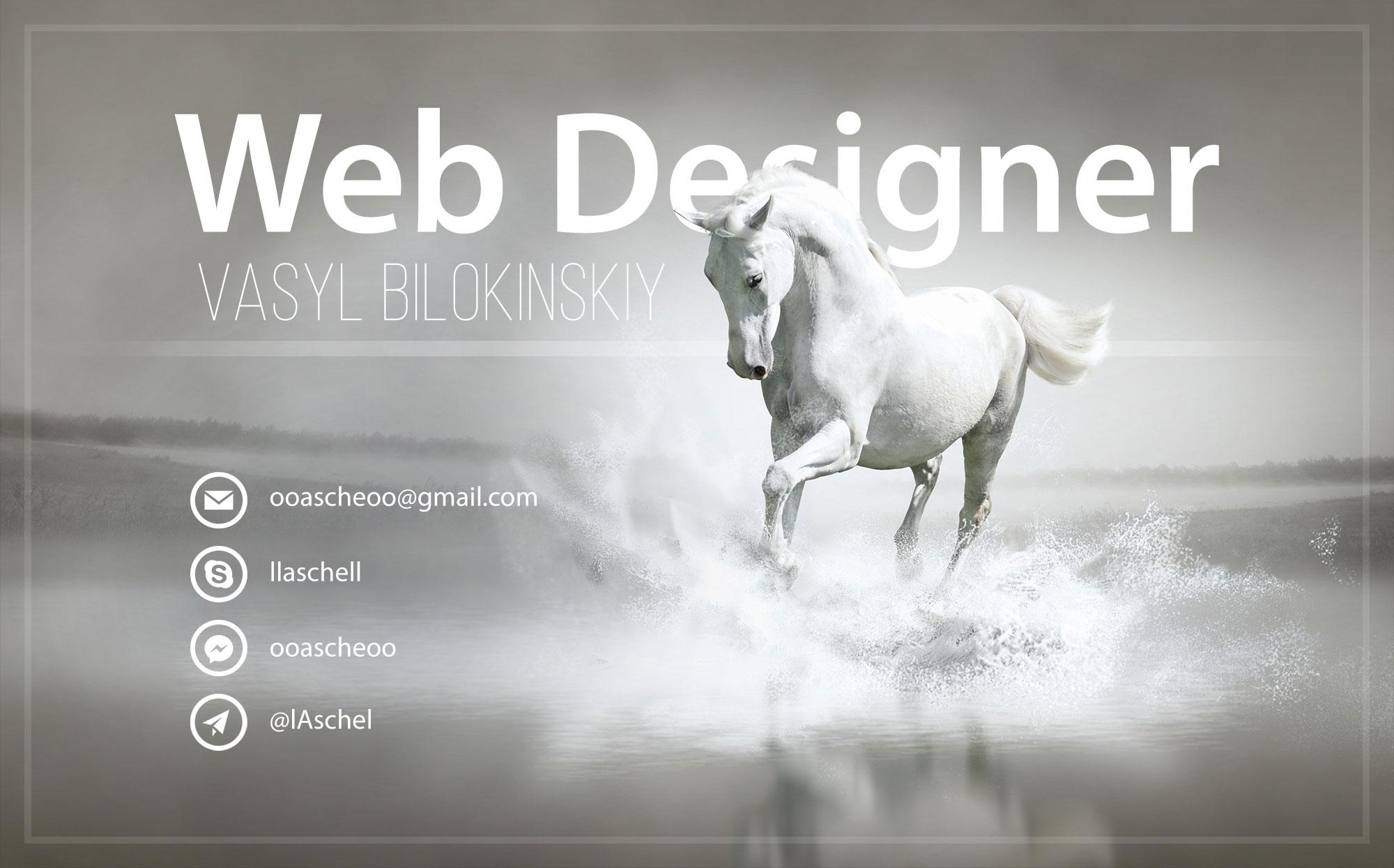 web design Vasyl Bilokinskiy