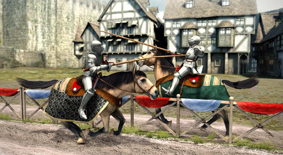 Средневековый рыцарь - 3D-сцены - Цифровое образование и обучение Мozaik