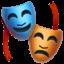 Эмодзи 🎭 Apple и iOS